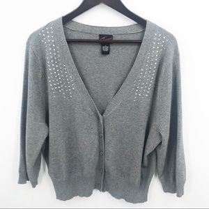 💛 Torrid Cardigan Shrug Gem Sweater 2 2X Holiday